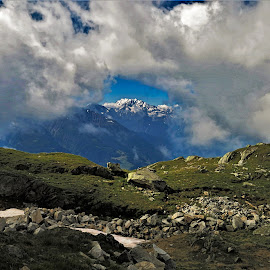 by Phil Bear - Landscapes Mountains & Hills ( mountains, alps, aletsch, switzerland, clouds )