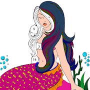 Mermaid Color by Number: Adult Coloring Book Pages