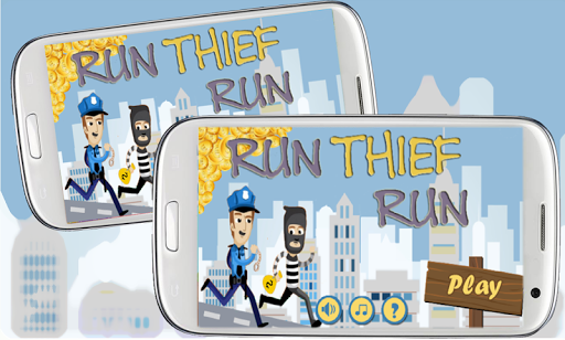 泥棒は 刑務所を実行します。
