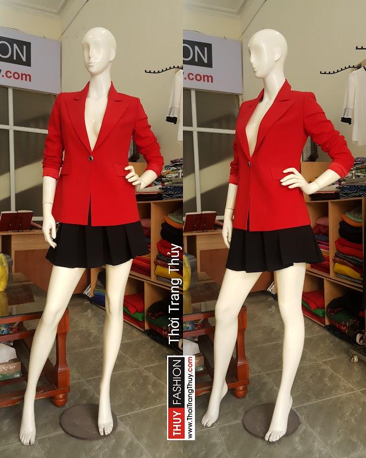 Áo vest nữ dáng suông với chân váy xòe V483 tại Hải Phòng