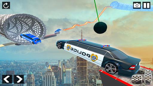 Police Limo Car Stunts - Mega Ramp Car Racing Game android2mod screenshots 2
