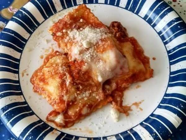Three Cheese Ravioli Bake Recipe