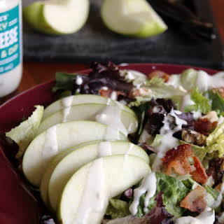APPLE, BACON, AND BLUE CHEESE SALAD.