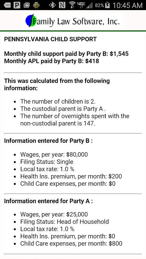 PA Child Support Calculator Android Apps on Google Play – Ohio Child Support Worksheet