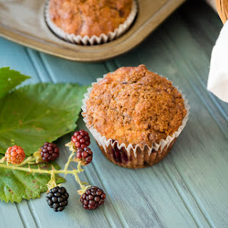 Blackberry Coffee Cake Muffins
