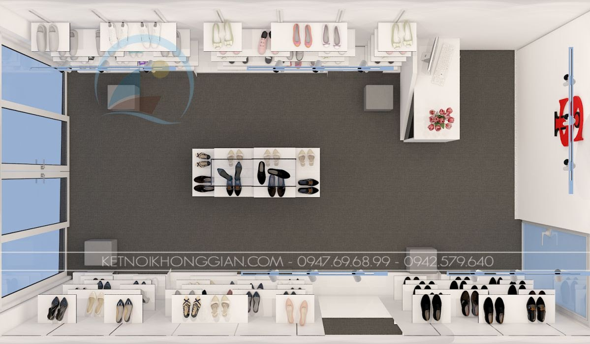 thiết kế shop giày dép Si 2