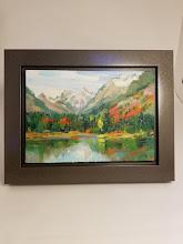 "Photo: ""Gold Creek Pond""  Plain air painting by Susan Waite"