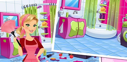 Princess House Cleaning Game New APK