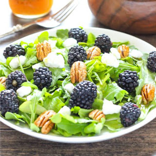 Blackberry Arugual Salad with Citrus Dressing