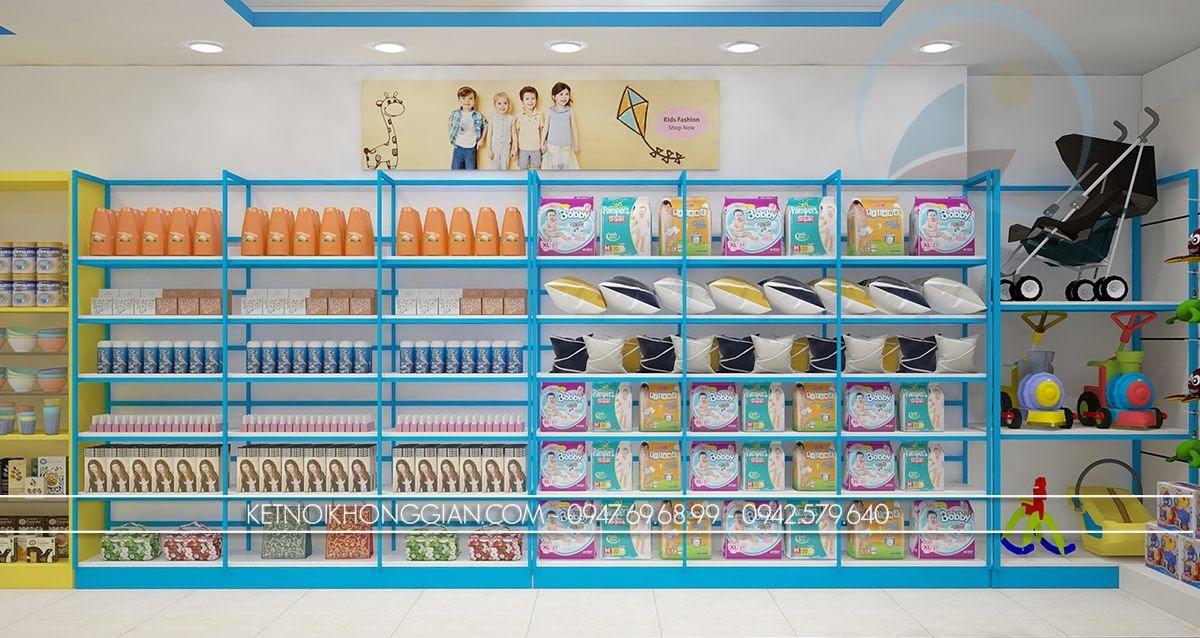 thiết kế siêu thị mẹ và bé thông minh