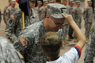 Photo: Sgt. 1st Class  Timothy Mellen was promoted to the rank of master sgt. on May 21 at the Cedar Street Armory.