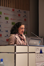 """Photo: Lorenna Carreno presenting - """"Comms Associations' Mission Today""""- 2012"""