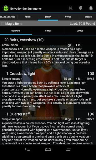 d20 Character Sheet screenshot 5