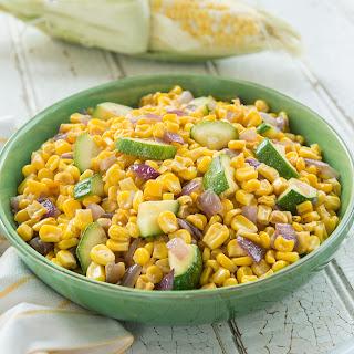 Charred Zucchini and Corn Saute