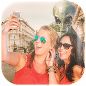 Alien in Photo ?? Alien Stickers for Pictures Icon