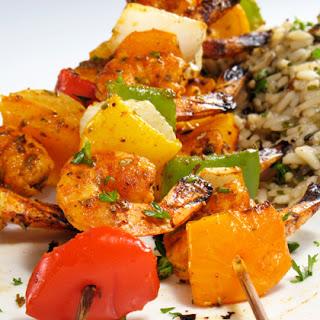 Grilled Shrimp Veggie Kabobs.
