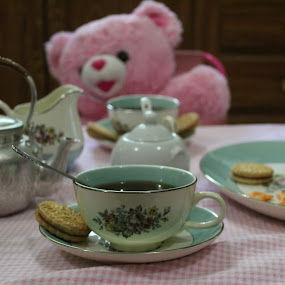 Tea for Two by Crystal Gibson - Artistic Objects Cups, Plates & Utensils ( pwccups )