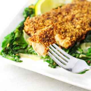 Walnut Crusted Mahi Mahi.