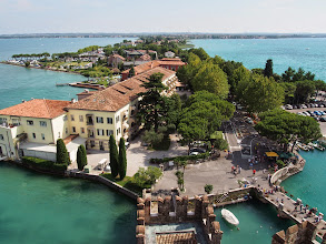 Photo: The Sirmione peninsula stretches behind us
