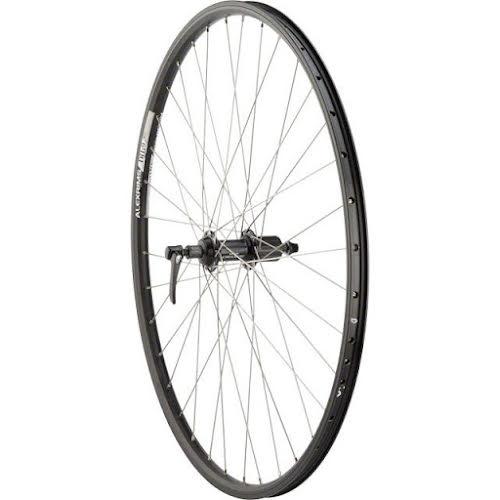 Quality Wheels Rear Wheel Mountain Rim 700c 135mm 36h Alex DH19 / Shimano Deore Black / DT Industry Silver