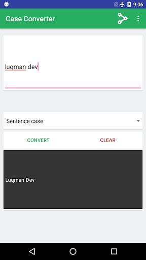 Screenshot 1 Case Converter