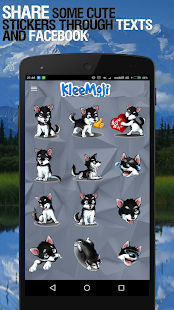 KleeMoji - Alaskan Klee Kai / Mini Husky Stickers Screenshot