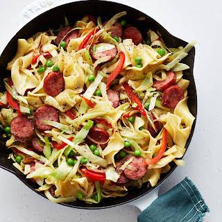 One-Pot Cabbage & Sausage Pasta.