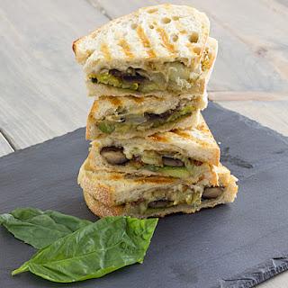 Pesto-Roasted Veggie Sandwiches