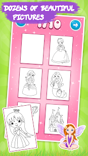 Kids coloring book: Princess- screenshot thumbnail