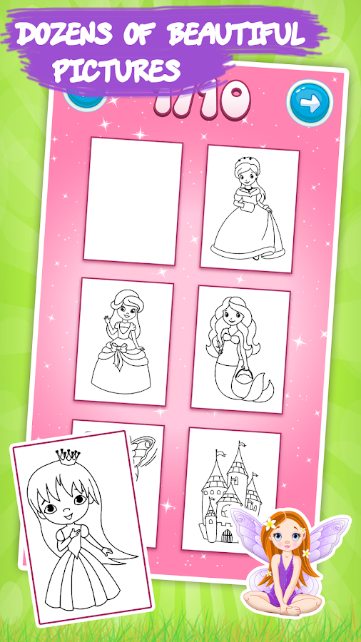 Kids Coloring Book Princess Screenshot