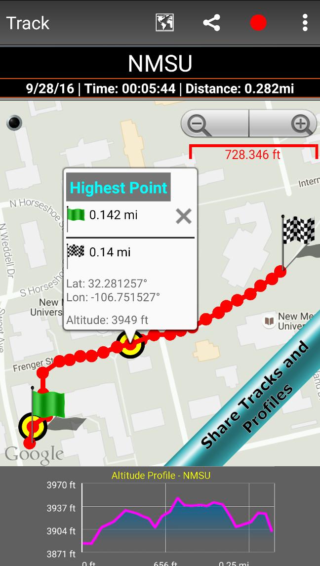 DS Altimeter Screenshot 3