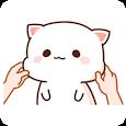 WAStickerApp Mochi Mochi Peach Cat