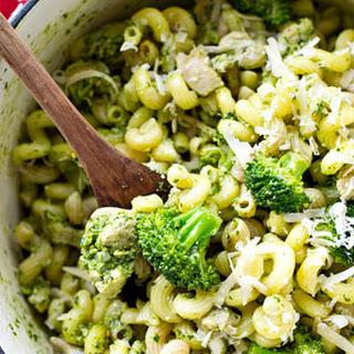 30-Minute Chicken Basil Pesto Pasta Skillet