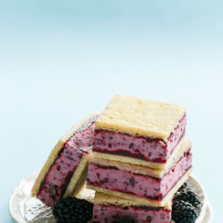 Buttermilk Blackberry Jam Ice Cream Sandwiches