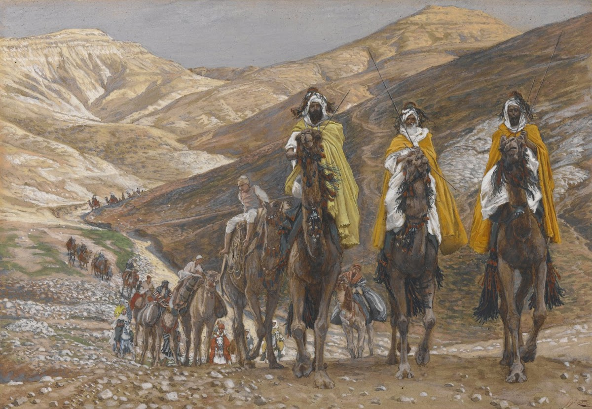 Wise Men Traveling to Bethlehem to Visit the King