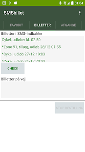 SMS-billet - bus/tog/metro- screenshot thumbnail