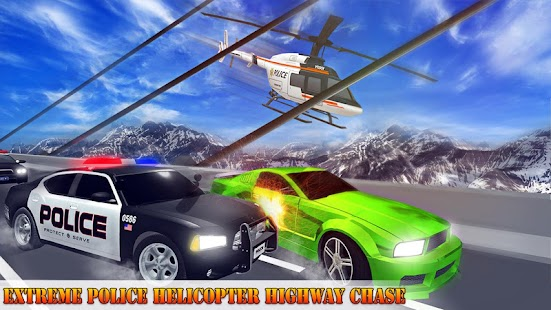 Police Helicopter Chase Car - náhled