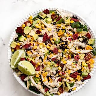 Healthy Chicken Taco Salad.