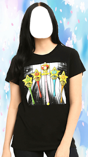 Popular Girl T Shirt Photo Montage - náhled