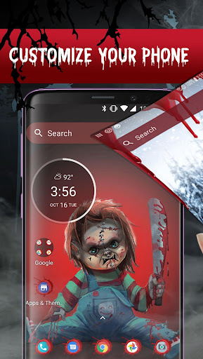 Screenshot for Scary Doll Themed Launcher - Icons and Themes Pack in United States Play Store