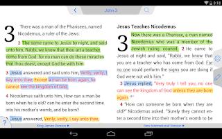 Screenshot of New American Standard Bible