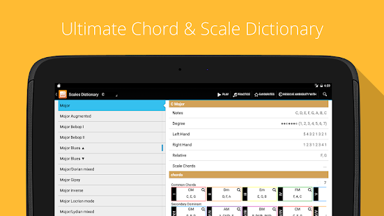 Piano Companion PRO: chord- screenshot thumbnail