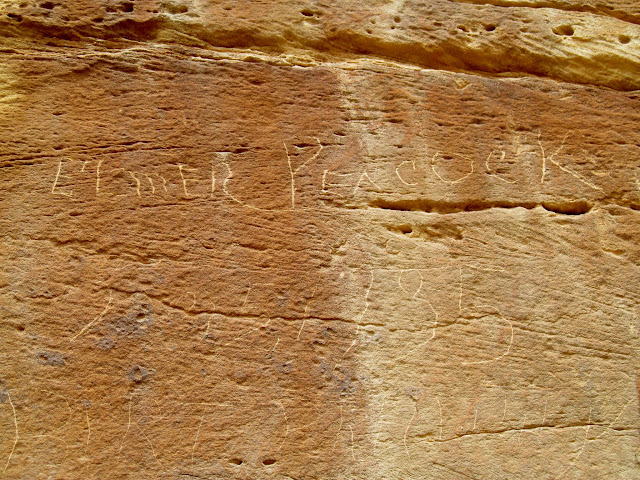 Elmer Peacock inscription from 1935