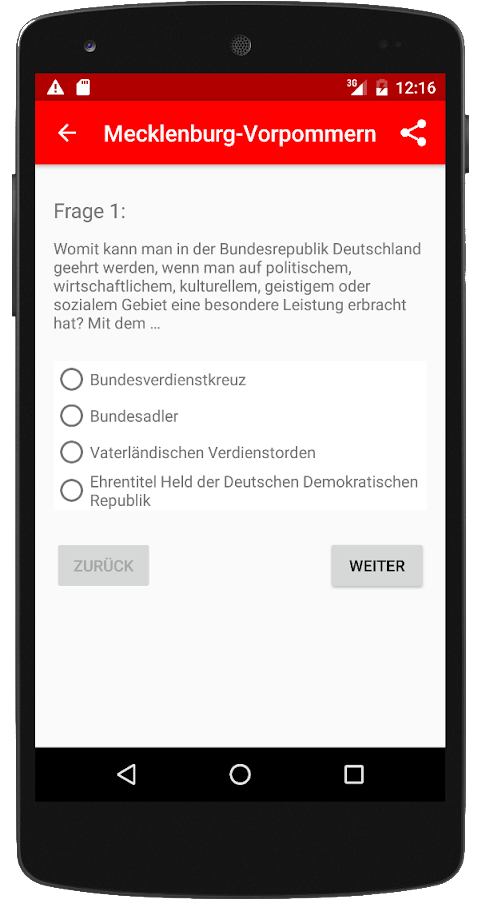 Einbürgerungstest MV 2017 – Screenshot