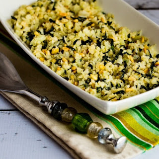 Cauliflower Rice with Basil, Parmesan, and Pine Nuts Recipe