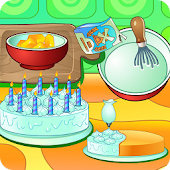 Cooking cream cake birthday