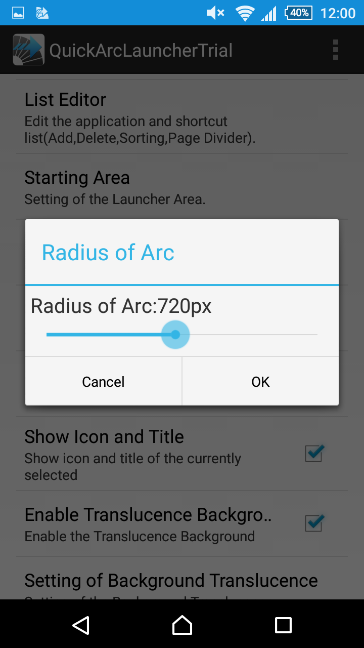 Quick Arc Launcher ( Smart One Swipe Launcher ) Screenshot 11