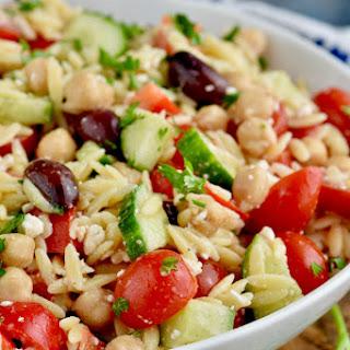 Easy Orzo Pasta Salad.
