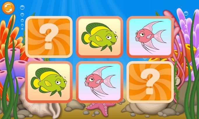 Matching Game - Ocean screenshot