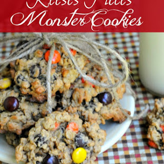 Reese's Pieces Monster Cookies.